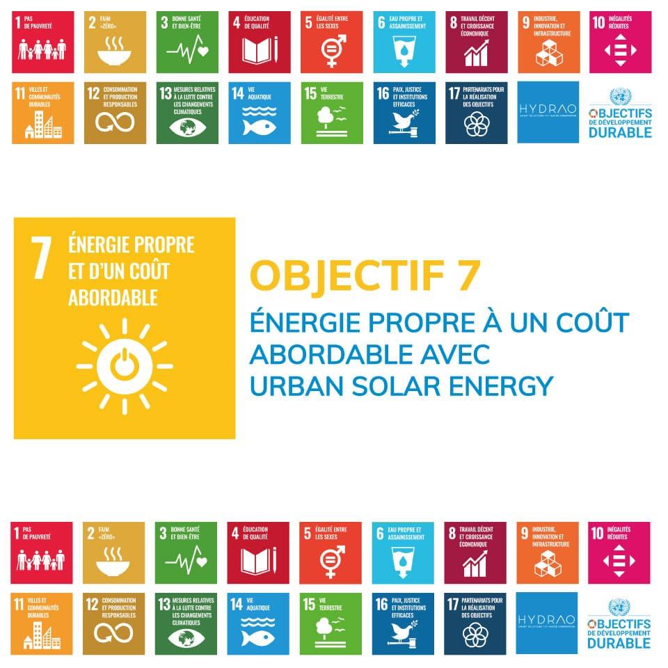 Objectif 7 – Énergie propre à un coût abordable avec Urban Solar Energy